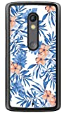 SECOND SKIN リゾートフラワー ホワイト (クリア) / for Moto X Play XT1562/MVNOスマホ(SIMフリー端末) MMRXPY-PCCL-298-Y424 MMRXPY-PCCL-298-Y424