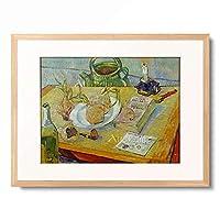 フィンセント・ファン・ゴッホ Vincent Willem van Gogh 「Still Life with Drawing Board, Pipe, Onions and Sealing-Wax」 額装アート作品