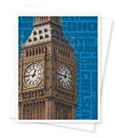 Big Ben London England Blank Note Cards - Set of 10 Greeting Cards [並行輸入品]