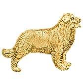 バーニーズマウンテンドッグ イギリス製 22ct ゴールドプレート アート ドッグ ブローチ コレクション