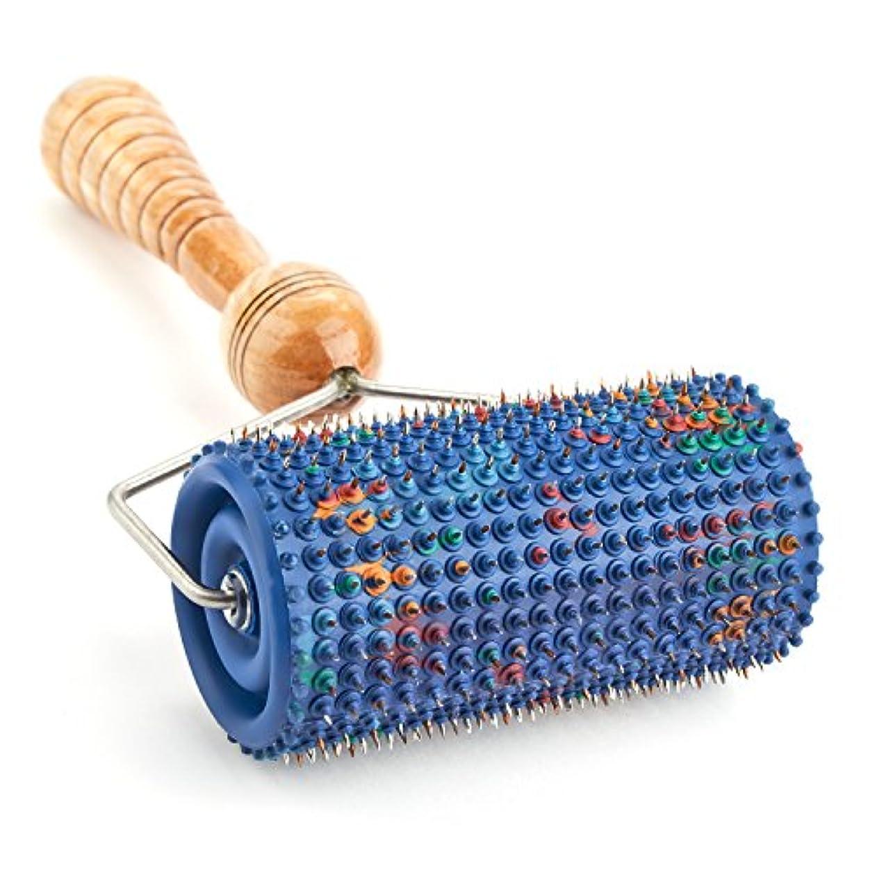 免疫電極分散LYAPKOビッグローラーマッサージャー5.0 シルバーコーティング 指圧570針使用。体の広範囲のマッサージ用。ユニークなアプリケーター治療 セルフ ダイナミック マッサージ ツール Big Roller Massager Acupuncture Applicator
