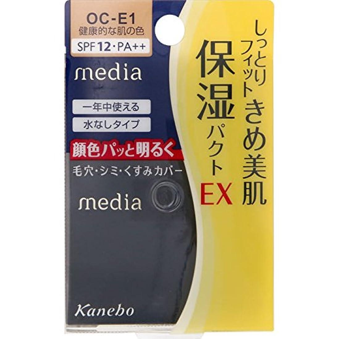 伴う適合する露出度の高いカネボウ メディア モイストフィットパクトEX OC-E1(11g)
