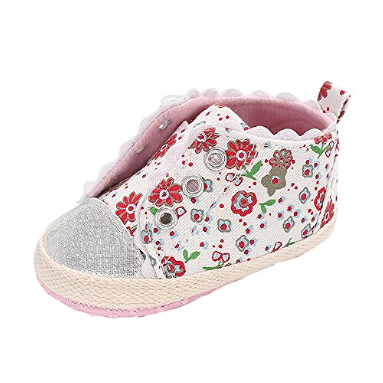 幸運な太陽 子供靴  幼児 新生児 赤ちゃん ガールズ 女の子 靴 花 柔らかい 子供用 滑り止め 軽量 通気 スニーカー 超可愛い 人気