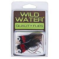 Wild Waterレッド、ブラックとホワイトDeerヘアベースバグ、サイズ2、QTY。2