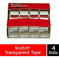 3M スコッチ 透明テープ 4巻パック 19mm×21.5m 小巻 4184