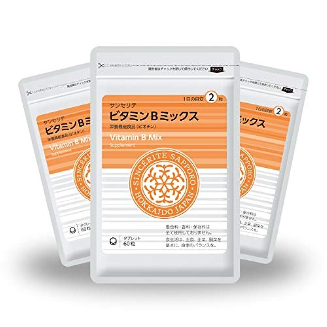 雇う原始的な矩形ビタミンBミックス 3袋セット[栄養機能食品]ビタミンB群たっぷり配合[国内製造]お得な★90日分