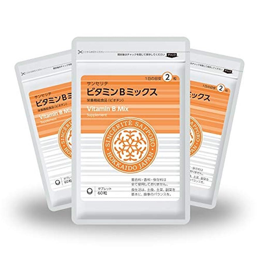 一致試み孤独ビタミンBミックス 3袋セット[栄養機能食品]ビタミンB群たっぷり配合[国内製造]お得な★90日分