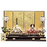 雛人形 親王平飾り おぼこ雛五寸(2人) 幅80cm 183to1180 松寿 名匠