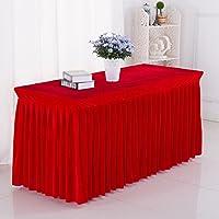 EGROON ホテル 展覧会 ウェディング テーブルスカート テーブルクロス 長方形 テーブルカバー テーブルマット 簡約 レッド