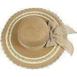 帽子 レディース UVカット 帽子 麦わら帽子 UV帽子 紫外線対策 折りたたみ つば広 ワイヤ入り uvカット帽子 春夏 レディース 通気性 ニット帽 マニュアル キャップ レディース 大きいサイズ ROSE ROMAN