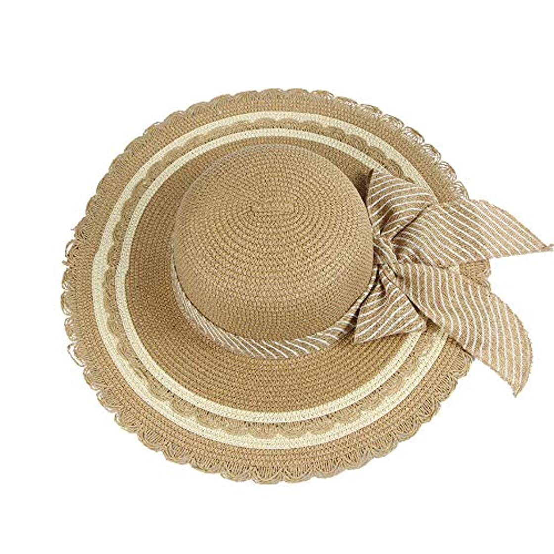 強盗系統的親帽子 レディース UVカット 帽子 麦わら帽子 UV帽子 紫外線対策 折りたたみ つば広 ワイヤ入り uvカット帽子 春夏 レディース 通気性 ニット帽 マニュアル キャップ レディース 大きいサイズ ROSE ROMAN