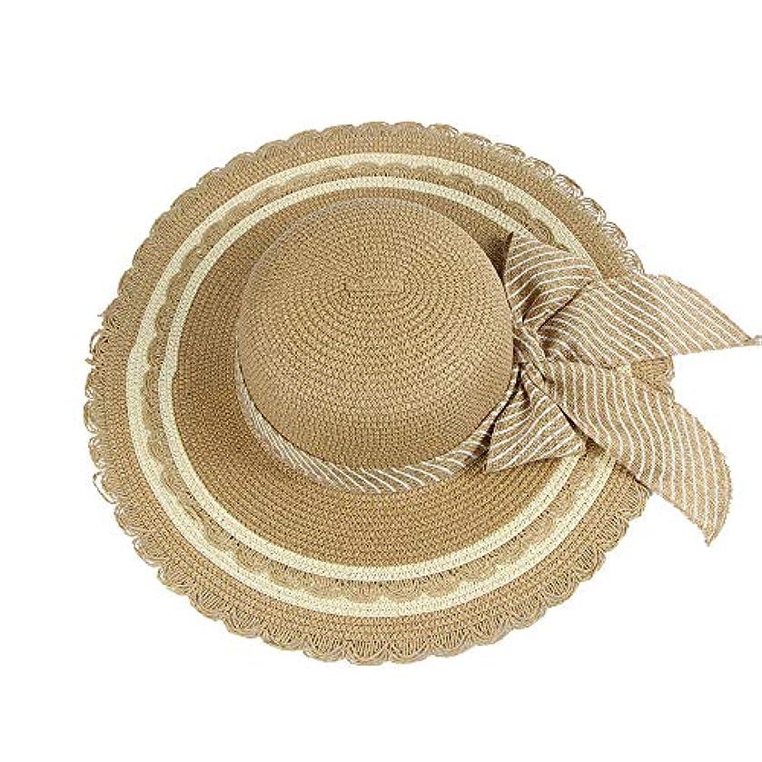 アンティーク歌うストライプ帽子 レディース UVカット 帽子 麦わら帽子 UV帽子 紫外線対策 折りたたみ つば広 ワイヤ入り uvカット帽子 春夏 レディース 通気性 ニット帽 マニュアル キャップ レディース 大きいサイズ ROSE ROMAN