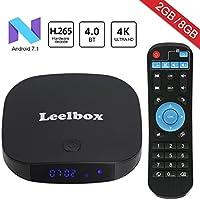 Android TV BOX メディアプレーヤー 4K 高精細 アンドロイド7.1 テレビ再生 HDMI受信機 Wifi テレビボックス 2GB RAM 16GB ROM 搭載【Leelbox】Q2 Pro