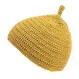 (カジュアルボックス)CasualBox ベビー REOM コットン どんぐりワッチ 5色 ベビーサイズ 赤ちゃん ニット帽 出産祝いニットキャップ charm チャーム (イエロー)