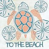 サンゴと海軍ウミガメII - アーカイブ紙上のファインアートプリント - 小 : 51 cms X 51 cms