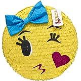 apinata4u Kissing Emoticon With Blue Bow