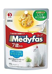 メディファス スープパウチ 7歳から 高齢猫用 しらす・かつお節入り 40gX12