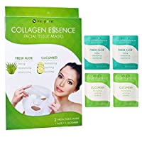 2 Pack Nu-Pore Collagen Essence Facial Tissue Masks Aloe Cucumber Skin Care 4pc by AllTopBargains