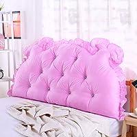 ZEMIN バック 床用靠垫 ウェッジクッション ベッドサイド クッション 布張り サポート モデリング 頼りにする 綿織物、 5色、 4サイズ (色 : ピンク, サイズ さいず : 200CM)