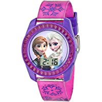 Disney Kids' FZN3598 Digital Display Analog Quartz Purple Watch