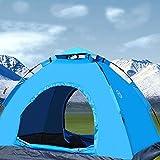 AoSky キャンプ アウトドア テント ワンタッチ式 単層 2人用 200*150*110CM 耐水圧1200mm 紫外線カット 防風 防雨 キャンプツーリング/アウトドア/ビーチ/登山/遠足/ピクニック/防災など (イエロー) (ブルー)