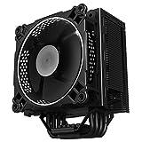 Jonsbo cr-2014Heatpipeサイレントデュアルボール軸受CPUクーラー120mmのLEDファンIntel LGA 775/ 115x AMDフルプラットフォームW / am4サポート–ホワイト