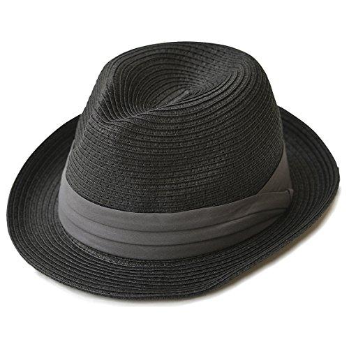 (エッジシティー)EdgeCity 折りたたみ可能! 大きいサイズ 大きい メンズ レディース 麦わら帽子 ストローハット S/56cm 000319-0098-56
