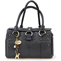 Catwalk Collection Handbags - Women's Leather Top Handle/Shoulder Bag - CLAUDIA