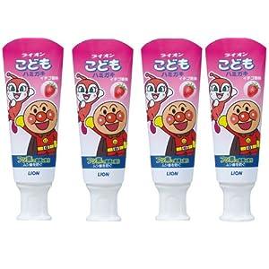 こどもハミガキ アンパンマン イチゴ香味 40g×4個パック (医薬部外品)