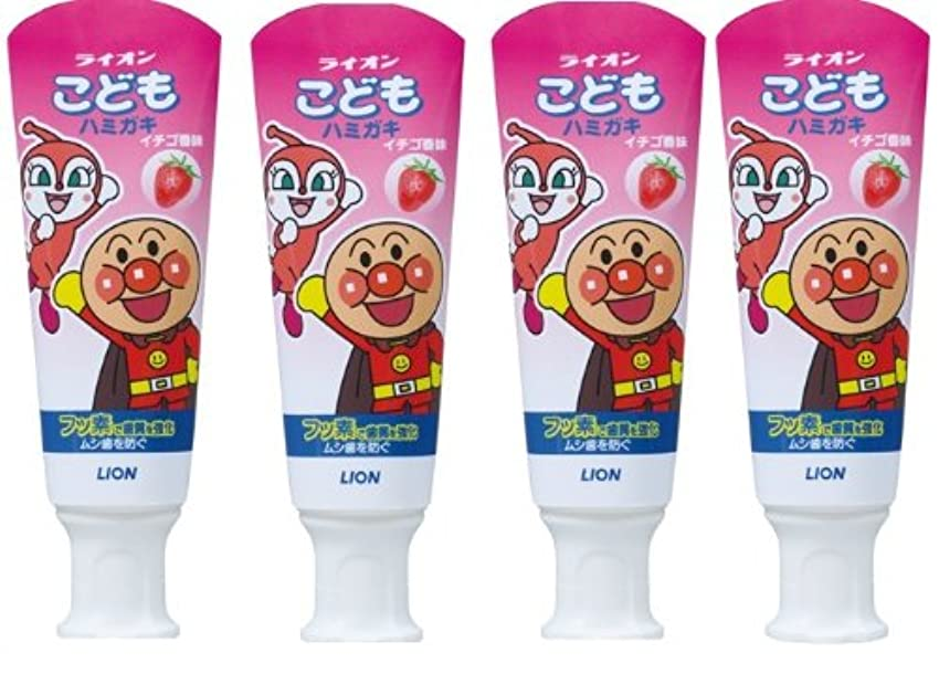 タイヤ汚染する仲間こどもハミガキ アンパンマン イチゴ香味 40g×4個パック (医薬部外品)