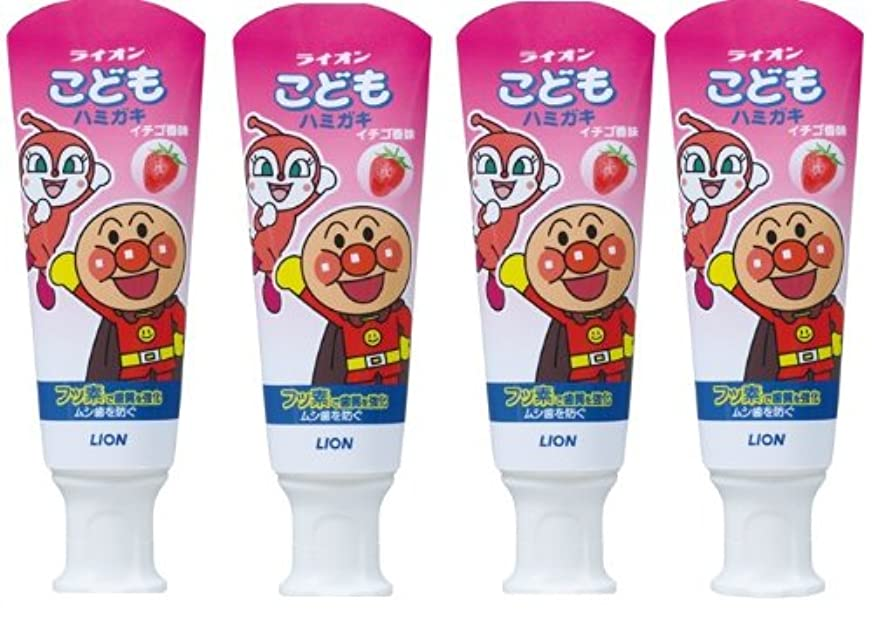 フィドルシルエット急いでこどもハミガキ アンパンマン イチゴ香味 40g×4個パック (医薬部外品)
