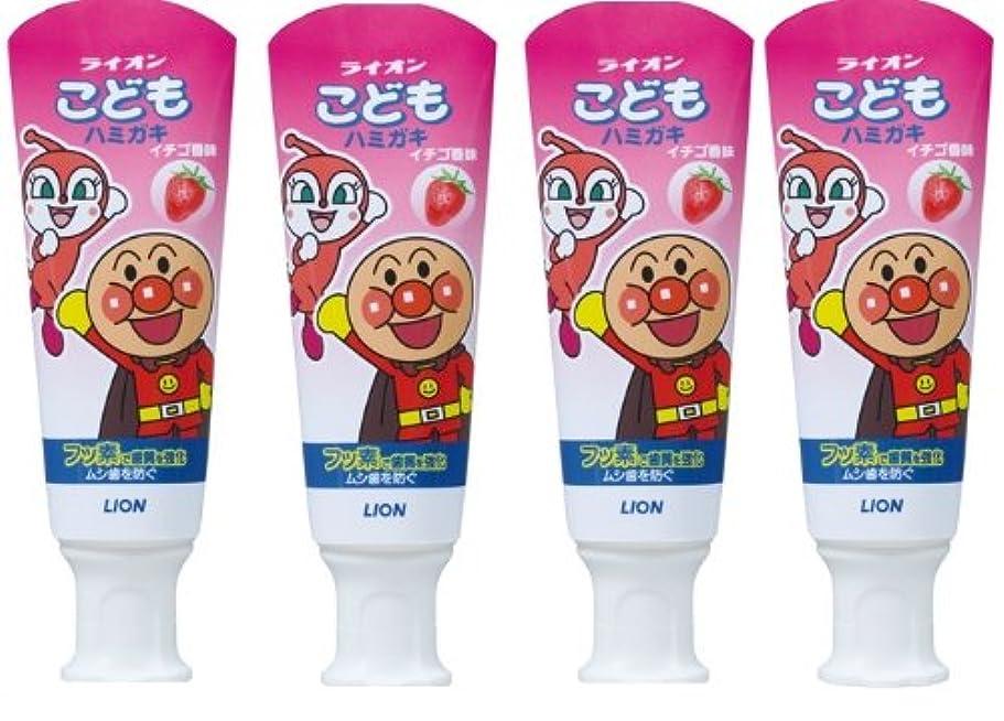 副産物運動敵対的こどもハミガキ アンパンマン イチゴ香味 40g×4個パック (医薬部外品)