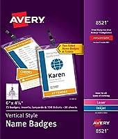 Avery 縦型バッジホルダー 6インチ x 4.25インチ (8521)