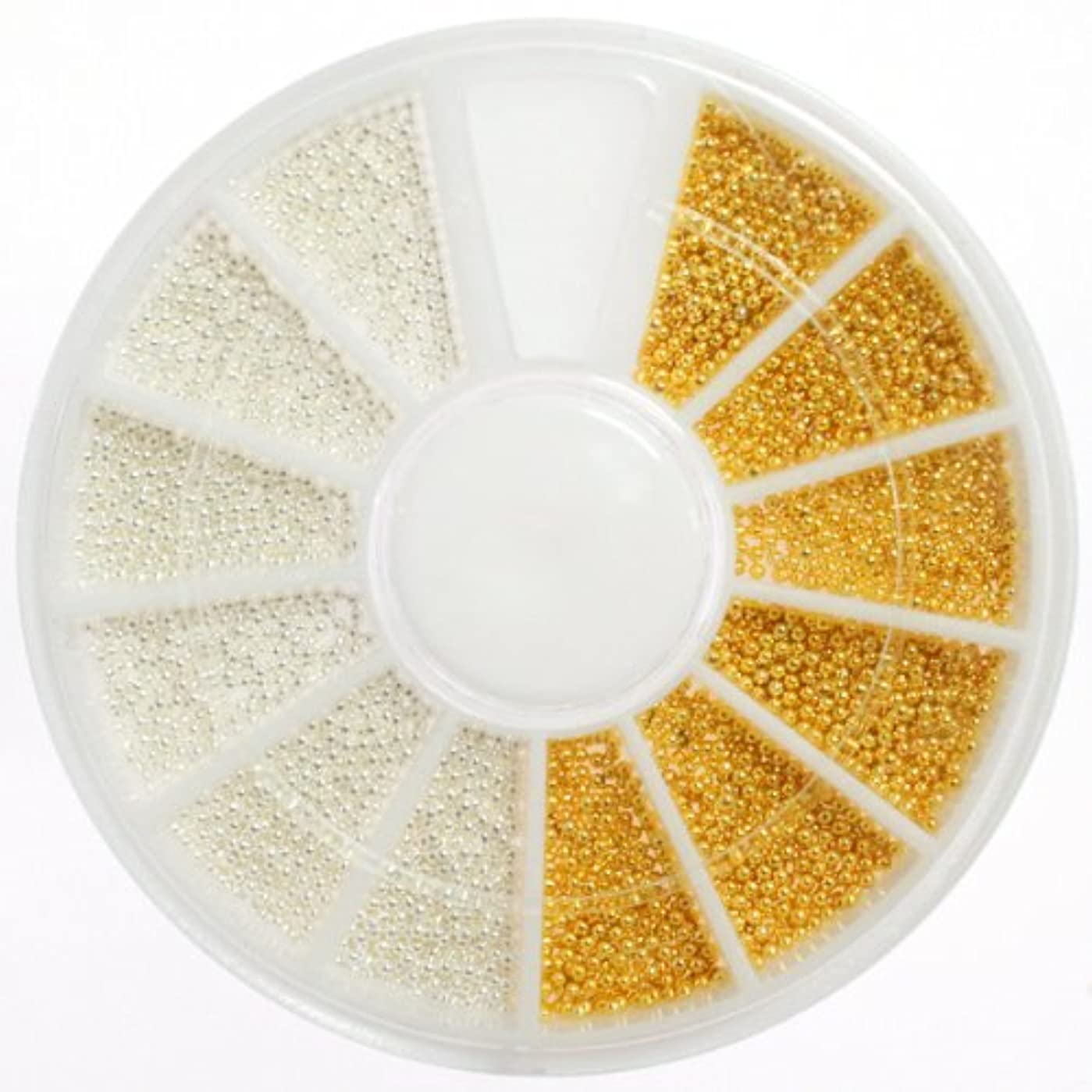 ボイド池美徳よく使うホワイト&ゴールドの金属ブリオン ト メタルブリオン ネイルパーツ