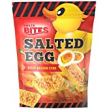 Snazk Bites Salted Egg Spicy Golden Cube Biscuit, 100 g