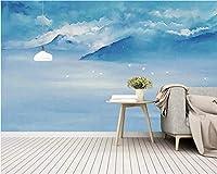 Weaeo カスタム3D壁紙現代の抽象的なブルーマウンテン風景アート壁画廊下児童室写真の壁紙T-280X200Cm
