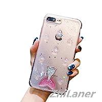 ZhiLaner iPhone X ケース アイフォンxケース iPhone8 ケース iPhone7/8 plus ケース アイフォンケース 耐衝撃 iPhone X ケース 7 8Plus ケース 7Plus 6s 6sPlus ケース アイフォン6s アイフォン8 プラス ケース iPhone X ケース iPhone8 iPhone7 保護カバー おしゃれ おしゃれ キラキラ 透明ケース クリア 人魚 スマホケース