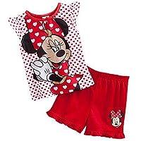 OUYAWEI Kids Cotton Sleepwear Cotton Pajama Short Set Minnie Shirts for Gilrs