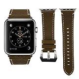 Icheckey Apple Watchバンド アップルウォッチ交換バンド Apple Watch革ベルト 防水性が高い しっかり高品質合革製スマートウォッチ 時計バンド Apple Watchレザーバンド 38mm 42mmに対応 the band for Apple watch series1/Apple watch series2/Apple watch series3