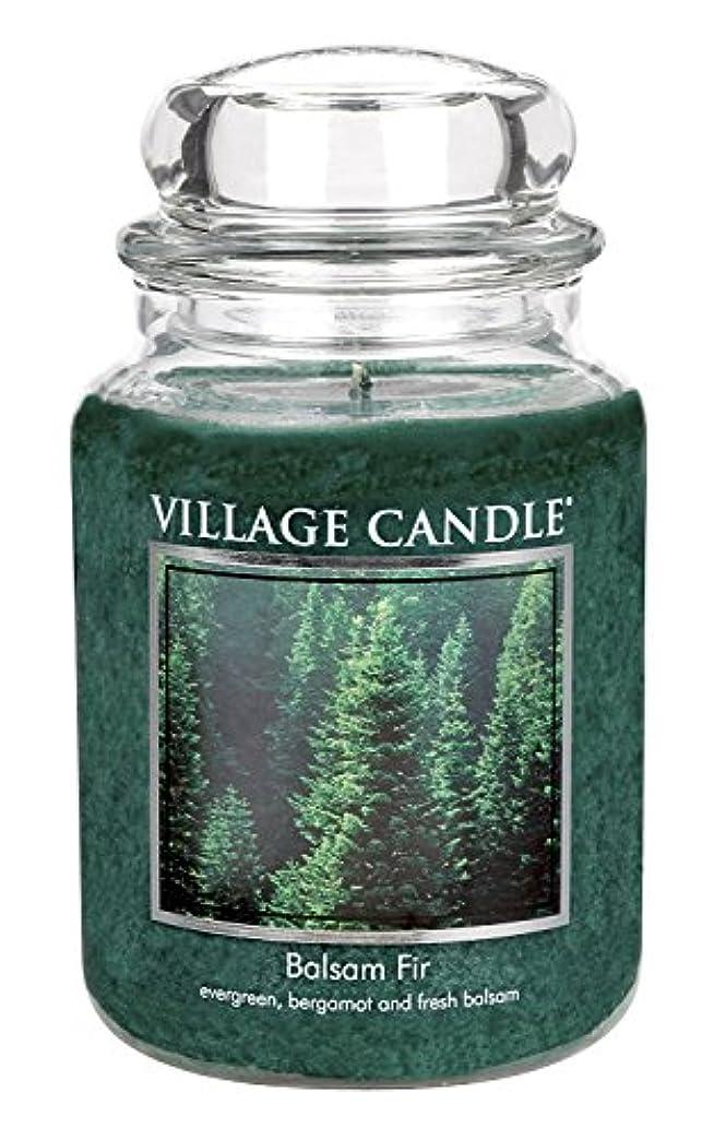 薬を飲む認可犬Village Candle Balsam Fir 26 oz Glass Jar Scented Candle, Large [並行輸入品]
