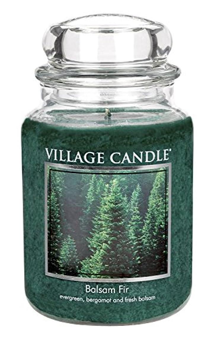 高める体操選手政治的Village Candle Balsam Fir 26 oz Glass Jar Scented Candle, Large [並行輸入品]