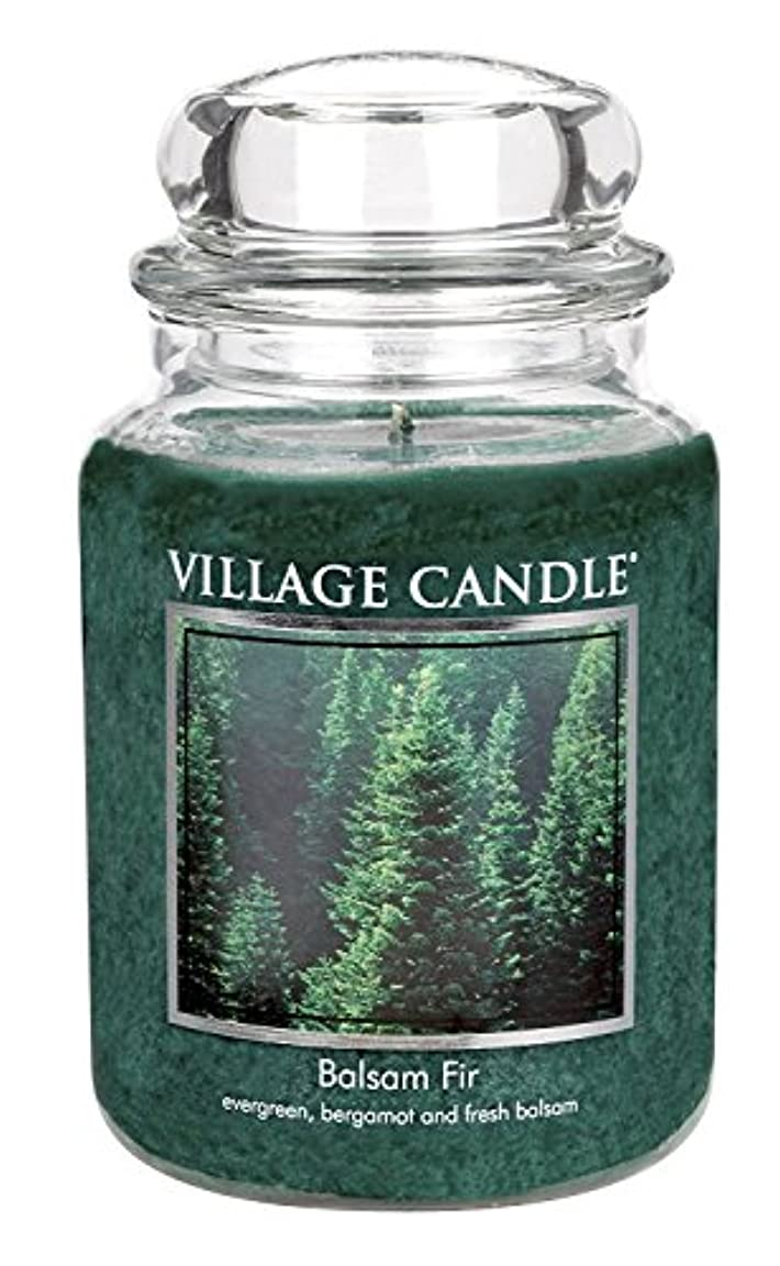 気分礼儀半導体Village Candle Balsam Fir 26 oz Glass Jar Scented Candle, Large [並行輸入品]