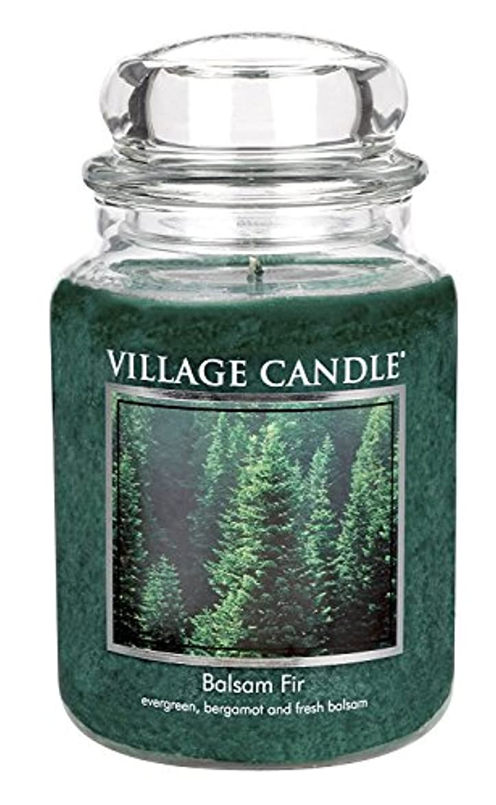 フィット豪華な特徴Village Candle Balsam Fir 26 oz Glass Jar Scented Candle, Large [並行輸入品]
