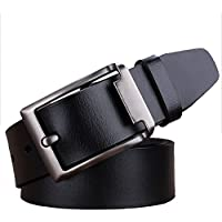 JingHao A6 Belts for Men Genuine Leather Belt for Dress & Jeans Big and Tall Size S-9XL
