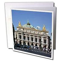 2旅行–フランス–PalaisパリのGarnierオペラハウス、フランス–グリーティングカード Individual Greeting Card