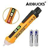 検電器 テスター ペン型 非接触 AIDBUCKS PM8908C デジタル マルチメーター 検電ドライバー 電圧 12~1000V AC電圧 音光式 LEDライト付き 電池付属 携帯便利