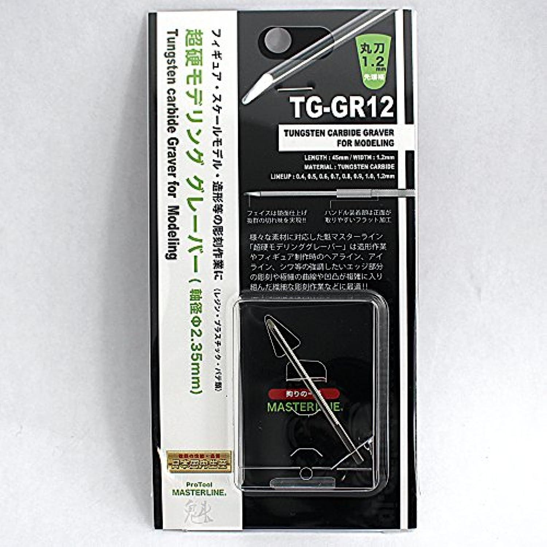 魁MASTER LINE 超硬モデリンググレーバー彫刻刀 TG-GR12 (丸刀1.2mm)