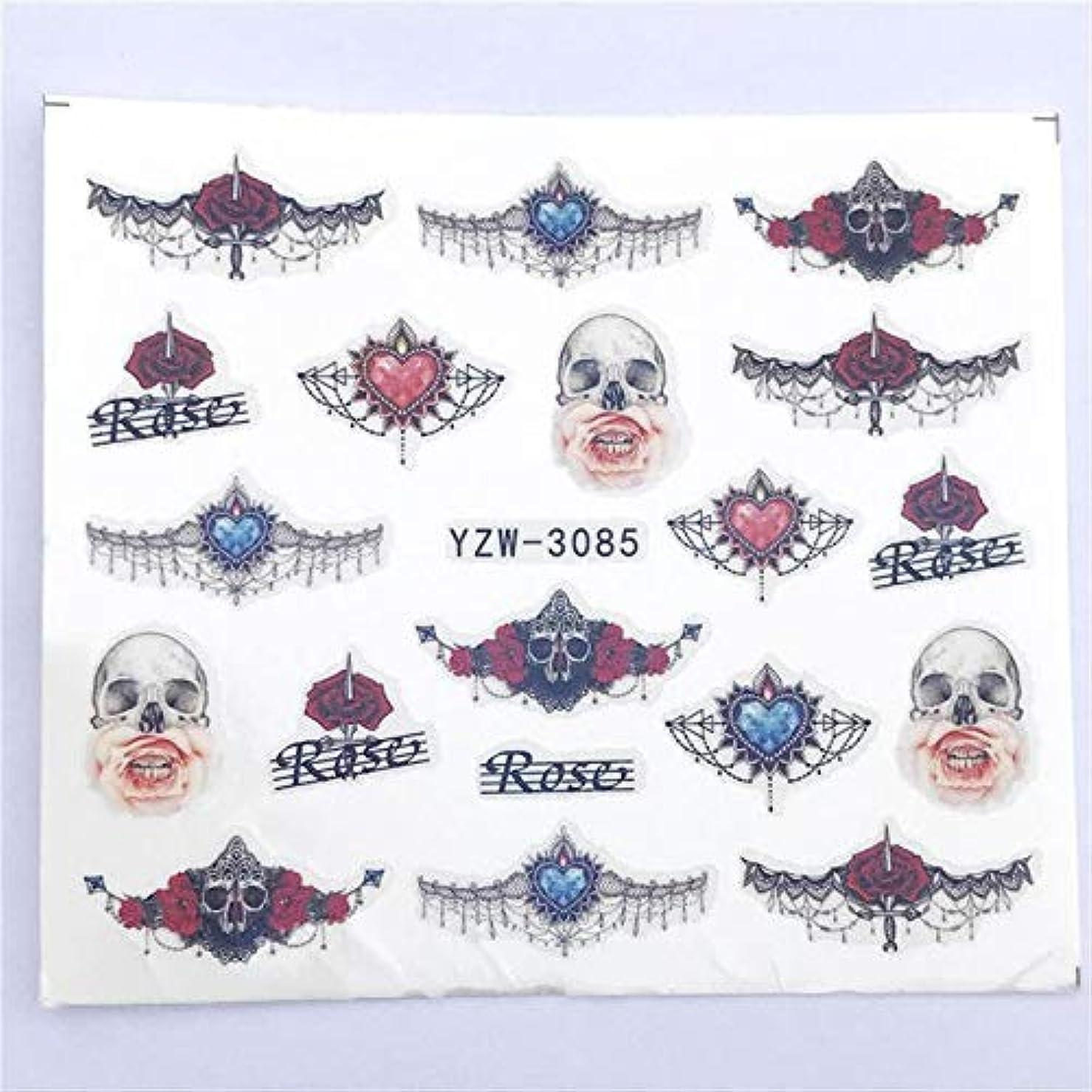 潜む雇用者卵SUKTI&XIAO ネイルステッカー 1枚の赤いバラとネイルアートの透かしタトゥーの装飾のためのヴィンテージのネックレスのデザインを組み合わせたネイルステッカー水デカール