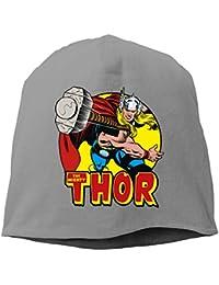 【Dera Princess】メンズ レディース ニット帽 Thor Springs Into Actionロゴ コットン ニットキャップ 帽子 オールシーズン 被れる