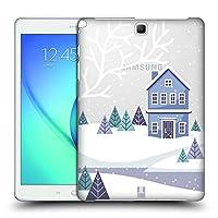 Head Case Designs ブルー ウィンター・コテージ ハードバックケース Samsung Galaxy Tab A 9.7